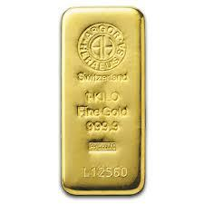 Lingot d'or  1 kilogramme - Argor-Heraeus