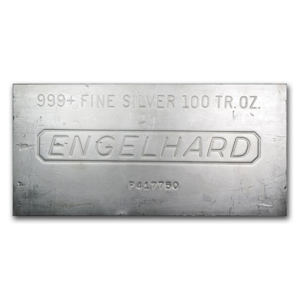 Lingot d'argent  100 onces - Engelhard