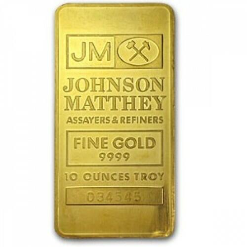 Lingot d'or  10 onces - Johnson Matthey