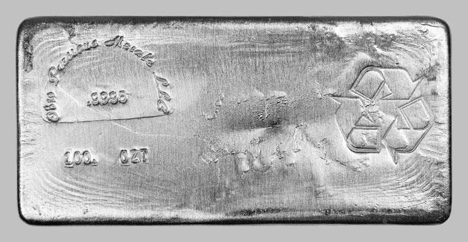 Lingot d'argent  100 onces - Ohio Precious Metals