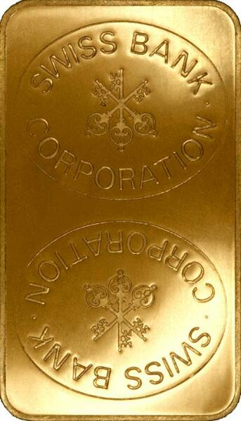 Lingot d'or  1 kilogramme - Swiss Bank Corporation