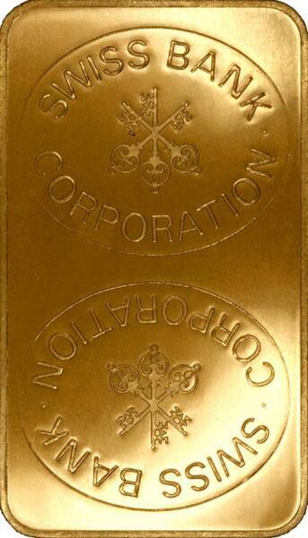 Lingot d'or  1 kilogramme - Kantonalbank