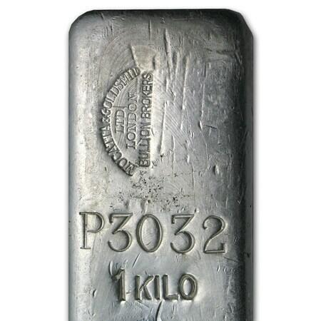 Lingot d'argent  1000 onces - Mocatta & Goldsmid Ltd