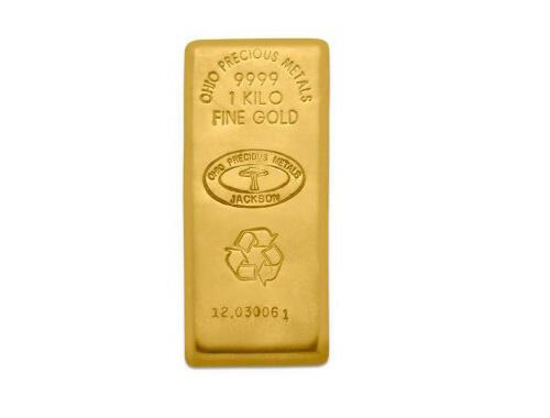 Lingot d'or  1 kilogramme - Ohio Precious Metals