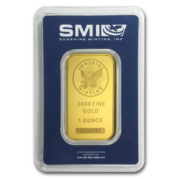 Lingot d'or  1 once - Sunshine Mint