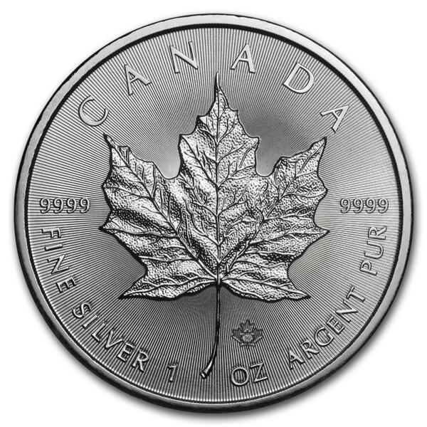 Maple Leaf argent 1 once - Monster box de 500 - Année mixte - Royal Canadian Mint