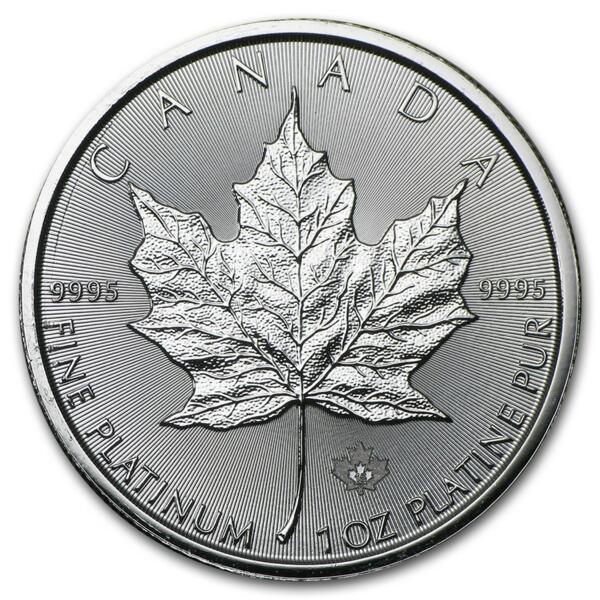 Maple Leaf platine 1 once - Pack de 10 - 2016 - Royal Canadian Mint