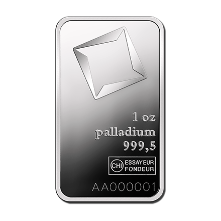 Lingot de palladium  1 once - Valcambi