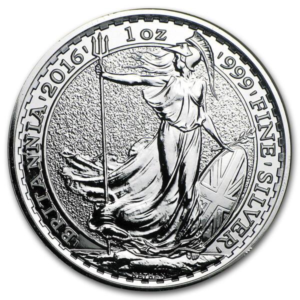 Britannia argent 1 once - Monster box de 500 - 2016 - The Royal Mint