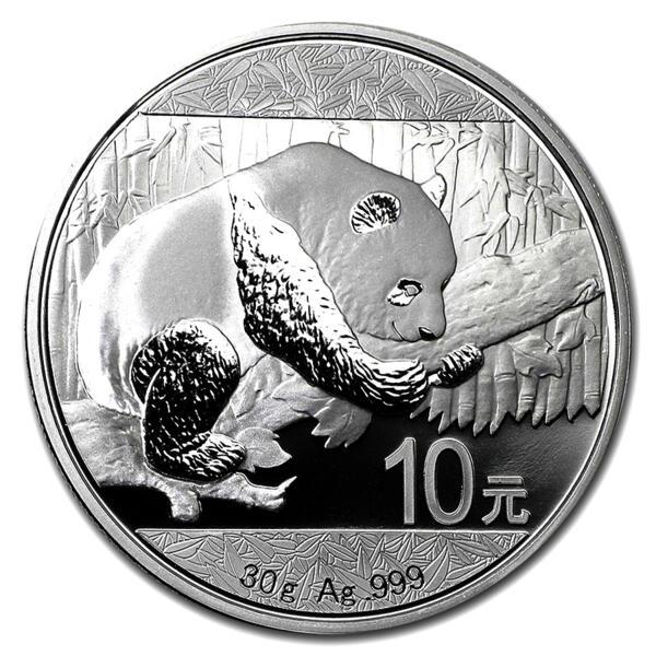 Panda argent 30 grammes - Monster box de 450 - 2016 - People's Bank of China