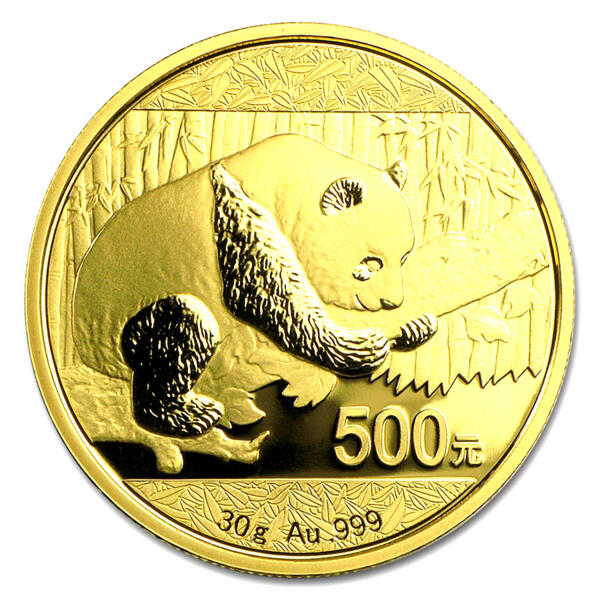 Panda or 30 grammes - Pack de 10 - 2016 - People's Bank of China