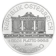 Philharmonique platine 1 once - Pack de 10 - 2016 - Austrian Mint