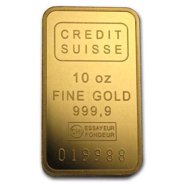 Lingot d'or  10 onces - Crédit Suisse