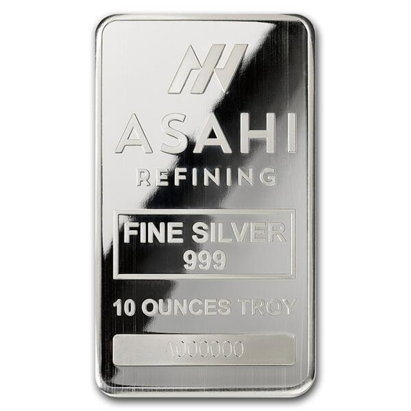 Lingot d'argent  10 onces - Asahi Refining