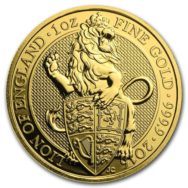 Queen's Beasts: Le Lion or 1 once - Pack de 10 - 2016 - British Royal Mint