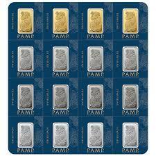 Lingot d'or  2.50 grammes - Pack de 16 - PAMP