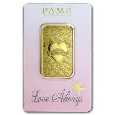 Lingot d'or love always 1 once - PAMP