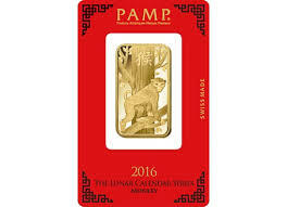 Lingot d'or Lunar 2016 1 once - PAMP