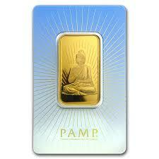 Lingot d'or religieux bouddha 1 once - PAMP
