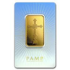Lingot d'or Religieux croix romane 1 once - PAMP