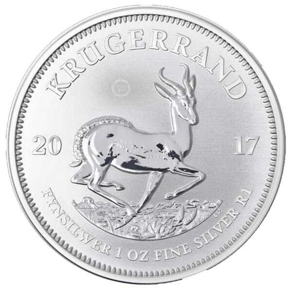 Krugerrand argent 1 once - Monster box de 500 - 2017 - South African Mint