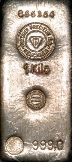 Lingot d'or  1 kilogramme - Compagnie des Métaux Précieux