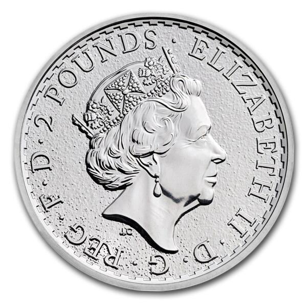 Britannia argent 1 once - Monster box de 500 - 2018 - The Royal Mint