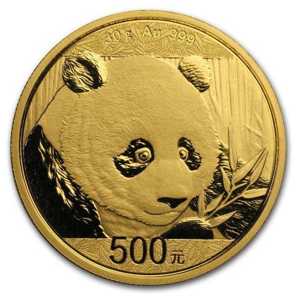 Panda or 30 grammes - Pack de 10 - 2018 - People's Bank of China