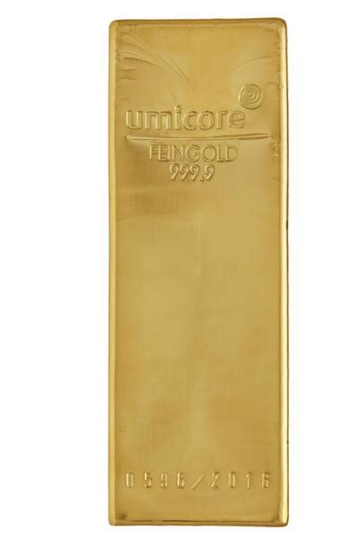Lingot d'or  12.5 kilogrammes - Umicore