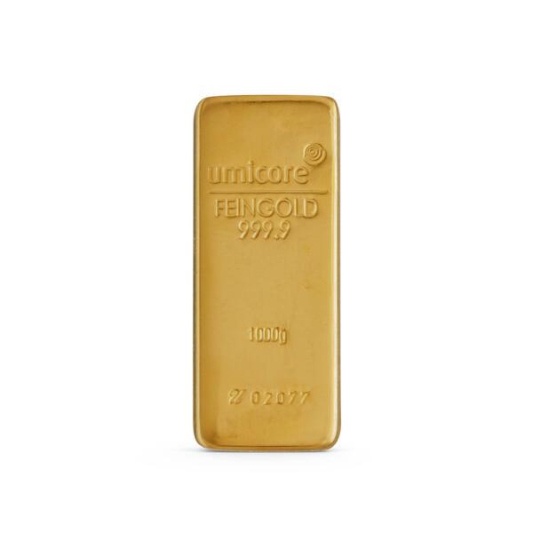 Lingot d'or  1 kilogramme - Umicore