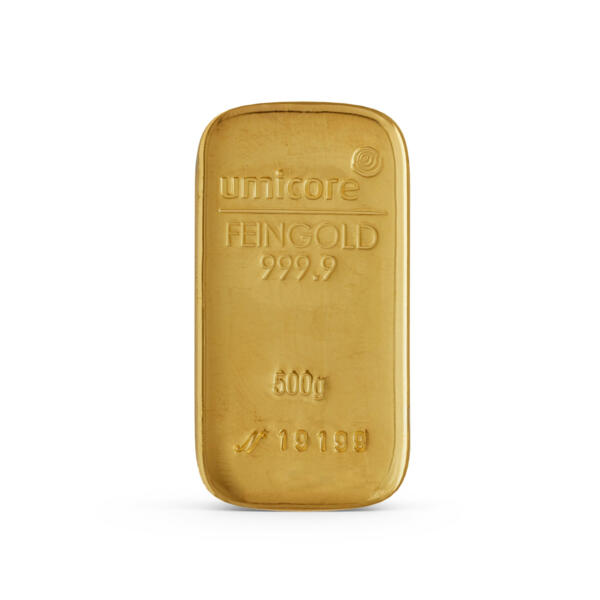 Lingot d'or  500 grammes - Umicore