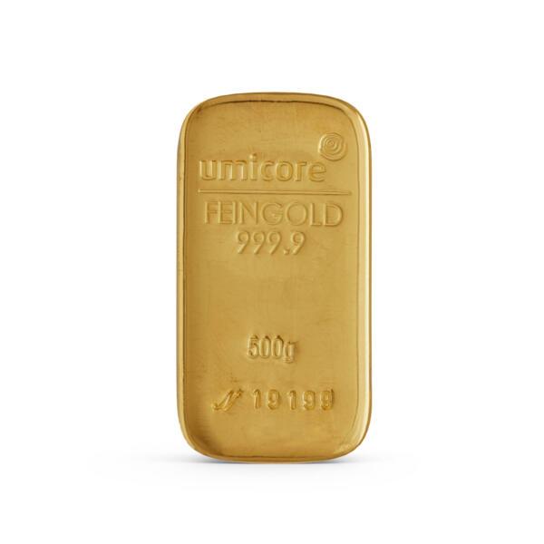 Lingot d'or  250 grammes - Umicore