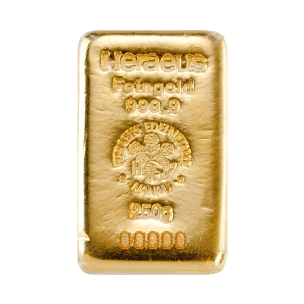 Lingot d'or  250 grammes - Heraeus