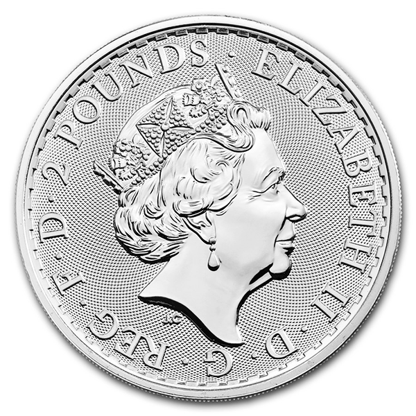 Britannia argent 1 once - Monster box de 500 - 2019 - The Royal Mint