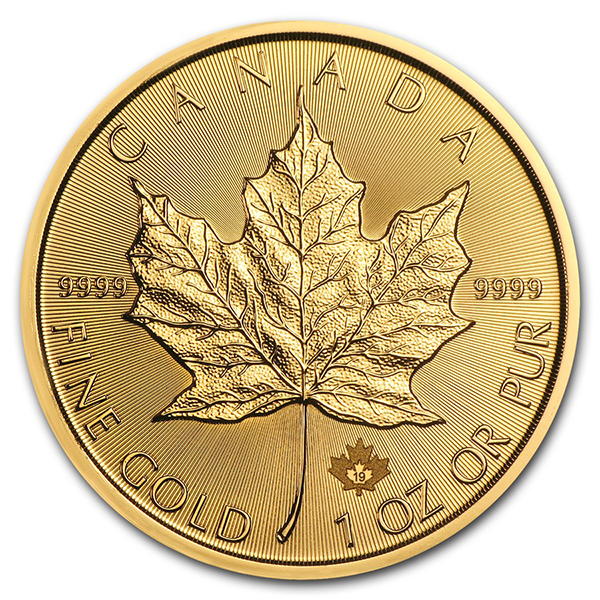 Maple Leaf or 1 once - Pack de 10 - 2019 - Royal Canadian Mint