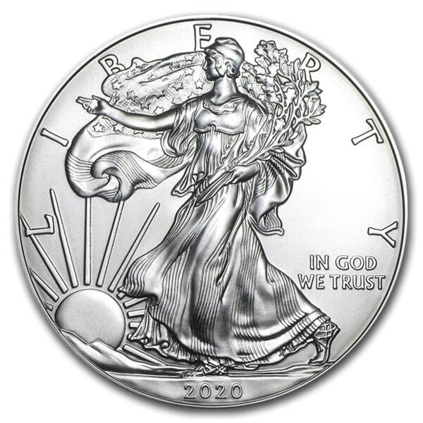 American Eagle argent 1 once - Monster box de 500 - 2020 - US Mint