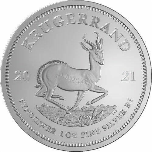 Krugerrand argent 1 once - Monster box de 500 - 2021 - South African Mint