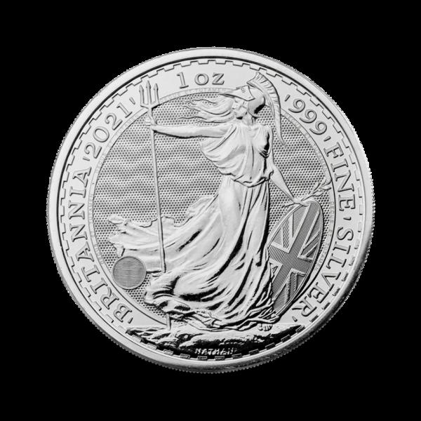 Britannia argent 1 once - Monster box de 500 - 2021 - The Royal Mint