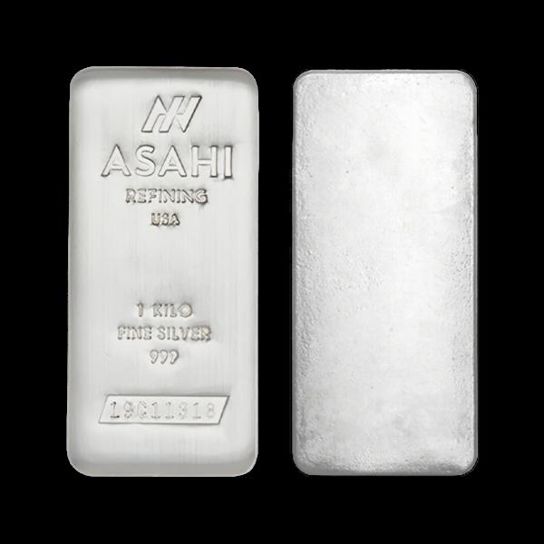 Lingot d'argent  1 kilogramme - Asahi Refining