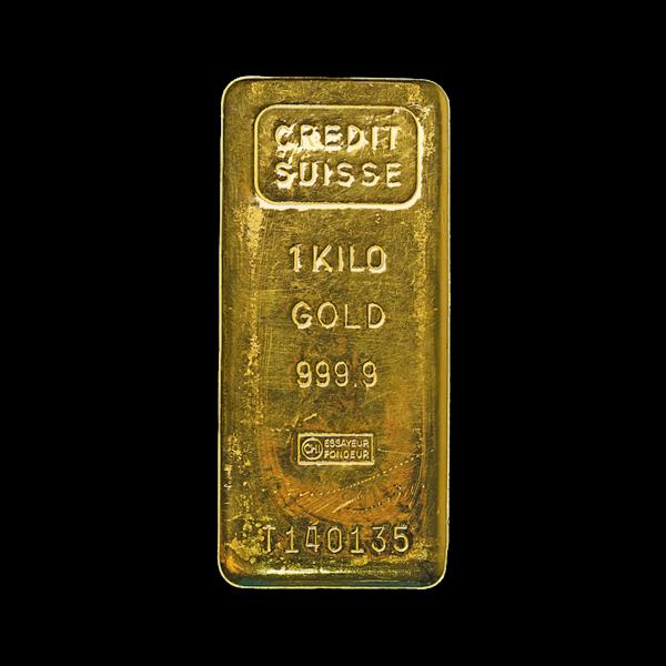 Lingot d'or  1 kilogramme - Crédit Suisse