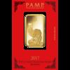 Lingot d'or Lunar Rooster 1 once - 2017 - PAMP