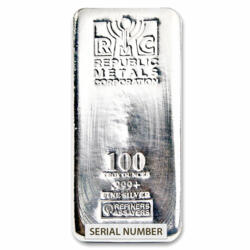 Lingot d'argent  100 onces - Republic Metals Corporation