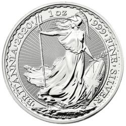 Britannia argent 1 once - Monster box de 500 - 2020 - The Royal Mint