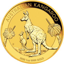 Kangourou or 1 once - Pack de 10 - 2020 - Perth Mint