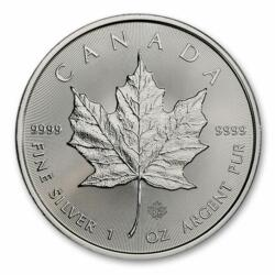 Maple Leaf argent 1 once - Monster box de 500 - 2021 - Royal Canadian Mint