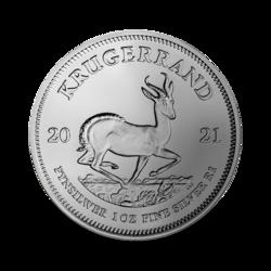 Krugerrand argent 1 once - Monster box de 500 - 2021 - South African Mint
