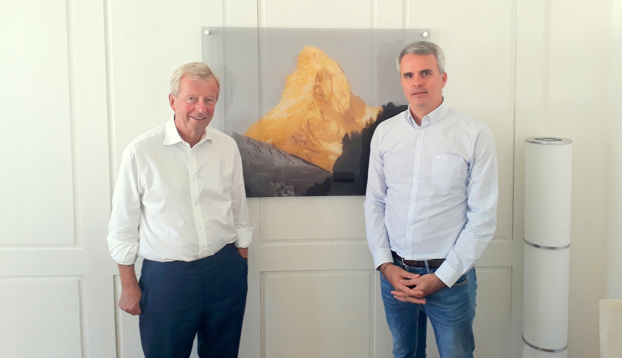 Egon Von Greyerz et Fabrice Drouin Ristori à Zurich